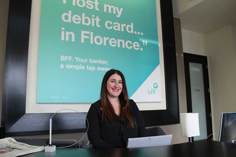 REVIEW PHOTO: SAM STITES - Lake Oswego Branch Manager Jadah Goldblum is one of dozens of Umpqua Banks Best Financial Friends available for customers to choose from with the new BFF pilot program.