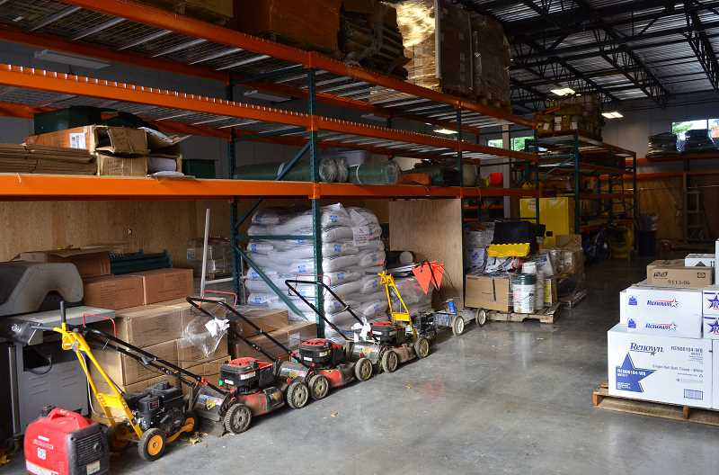 REVIEW PHOTO: VERN UYETAKE - The new Parks Maintenance storage bay is large enough to accomodate all of the department's gear. Until now, the department has been housed in a rented space in the Foothills district.