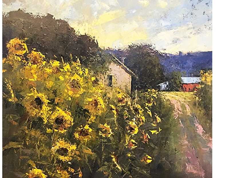 SUBMITTED - Romona Youngquist's style is sometimes referred to as contemporary impressionistic. She paints realistic, representational landscapes, often featuring a house nestled within a sprawling nature scene.