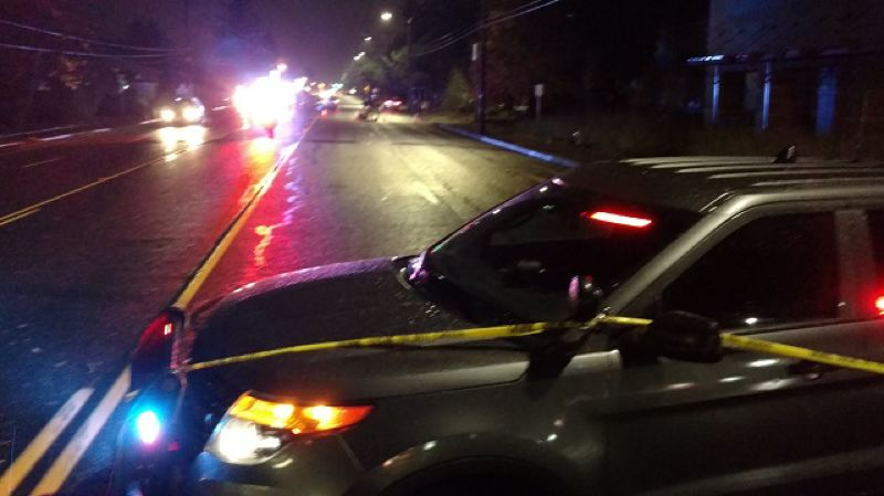 KOIN 6 NEWS PHOTO - A pedestrian died after being hit by a car in Gresham on November 21, 2017.