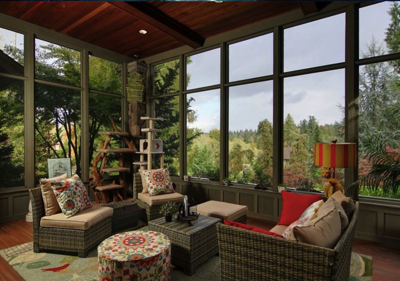 SUBMITTED: LAURA SABO - Laura Sabo, a local small business owner, redesigned the interior of a clients 2006 Street of Dreams homes patio into a catio.