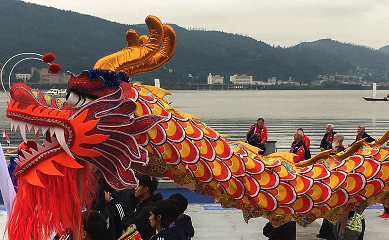 CONTRIBUTED PHOTO: ANGIE KAUTZ - Dragon boat racing and fesitvals are based on legends featuring the scaled creatures.