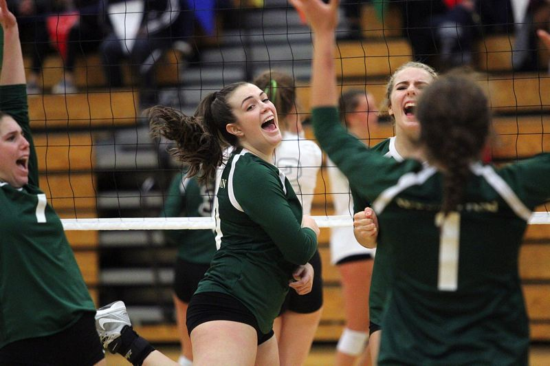 TIDINGS PHOTO: MILES VANCE - West Linn senior Isabella Bean the Lions volleyball team proved themselves to be one of the state's best teams in 2017, winning the Three Rivers League and then taking third at the Class 6A state tournament.