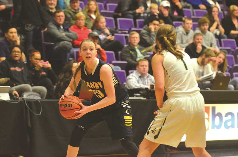 HERALD PHOTO: COREY BUCHANAN - Cassidy Posey (senior) returns to the team for her fourth year on the varsity basketball team. The Cougars look to improve on their fifth place finish last year.