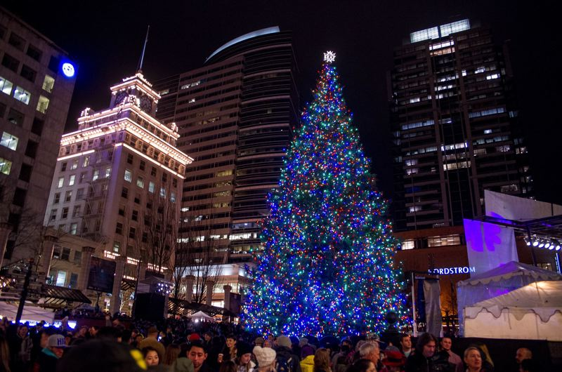 pamplin media group file photo portlands annual tree lighting ceremony kicks off the holidays