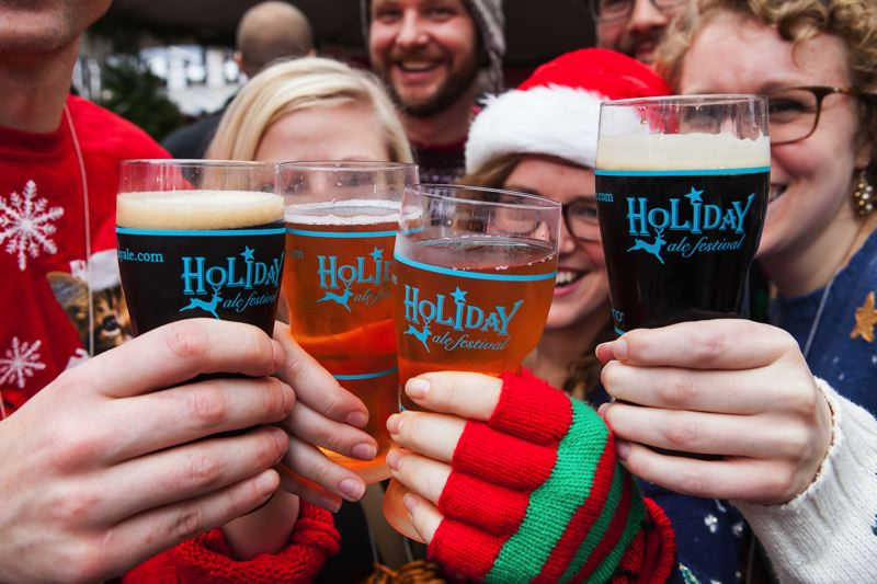 COURTESY: TIMOTHY HORN/HOLIDAY ALE FEST - Thousands of craft beer fans will taste their way through local brewers' latest releases at the Holiday Ale Fest at Pioneer Courthouse Square, Nov. 29-Dec. 3.