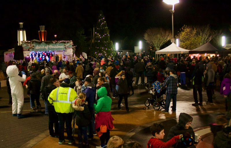 OUTLOOK PHOTO: CHRISTOPHER KEIZUR - About 500 people made their way to downtown Gresham for the Spirit of Christmas on Saturday evening, Nov. 25.