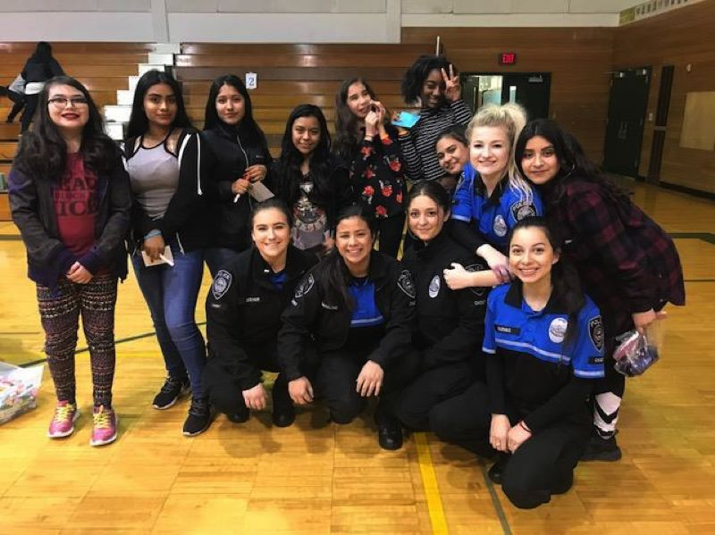 CONTRIBUTED PHOTO: CITY OF GRESHAM - Gresham Police Department cadets joined more than 60 girls for a Night In at H.B. Lee Middle School.