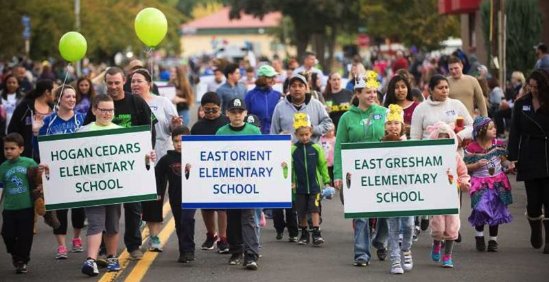 FILE PHOTO - The bustling city of Gresham is adding new residents every day, and their children attend local schools featured in this parade photo from 2016.