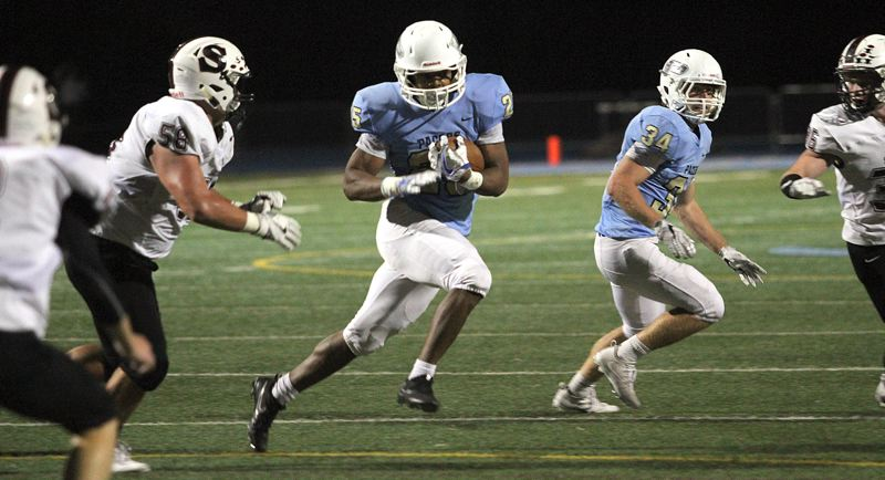 REVIEW PHOTO: MILES VANCE - Lakeridge sophomore running back Jalen John was one of two Pacers named to the all-Three Rivers League first team this season.
