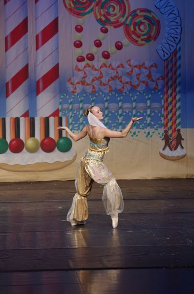 COURTESY PHOTO - Aubrey McLoud has danced many parts in Ballet Forest Grove's production of 'Nutcracker,' including here as the Arabian Princess. This year, her final year, she dances the part of the Sugar Plum Fairy.