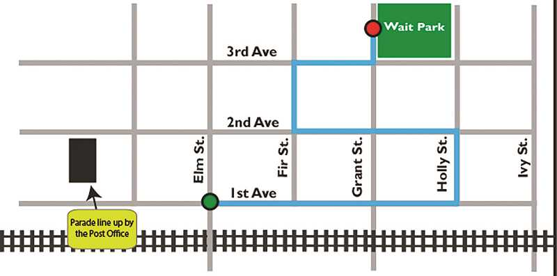 A look at the parade route for Light Up The Night. The parade starts at 6 p.m.