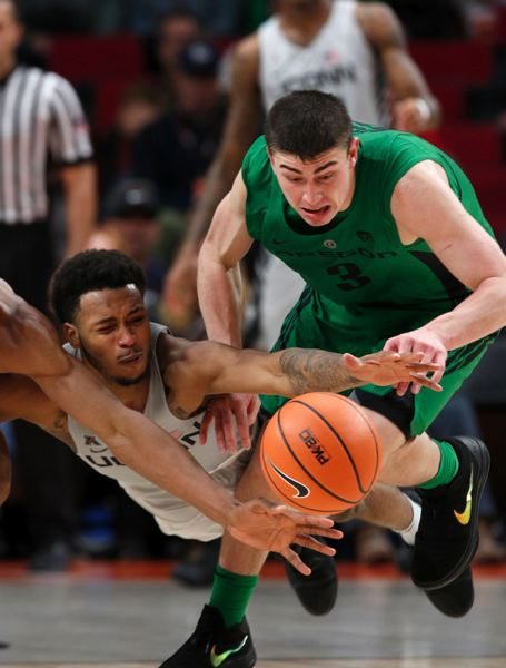 TRIBUNE PHOTO: JONATHAN HOUSE - Oregon guard Payton Pritchard and the Ducks found the going wasn't easy in the PK80 Invitational.