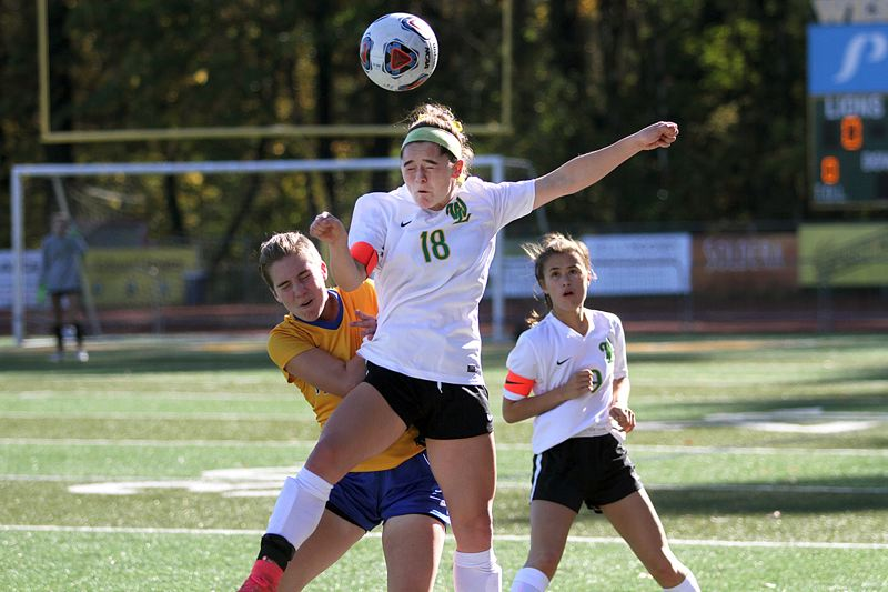 TIDINGS PHOTO: MILES VANCE - West Linn junior defender Rae Peters was one of five West Linn players named to the all-Three Rivers League first team for 2017.