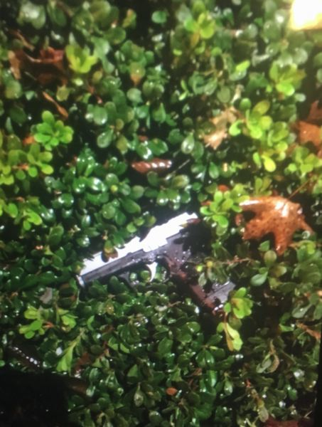 PHOTO: BEAVERTON POLICE - A handgun was found early Wednesday after officers responded to reports of shots fired.