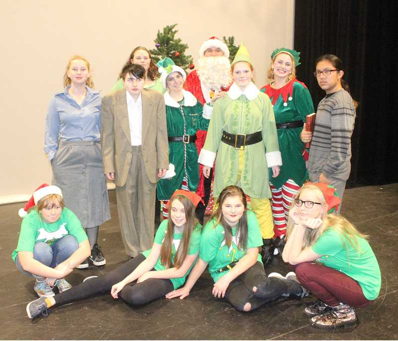 SUSAN MATHENY/MADRAS PIONEER - The cast of 'Elf' is ready to entertain.