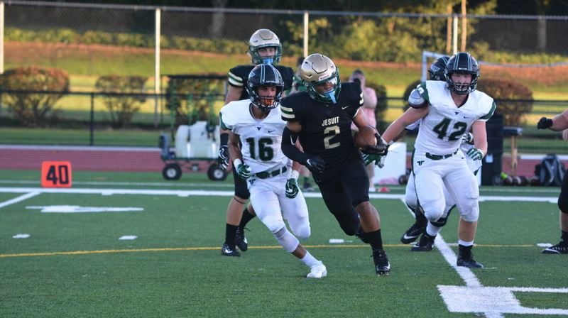 TIMES FILE PHOTO - Jesuit senior running back Trey Lowe was named the Metro League Offensive Player of the Year this season.