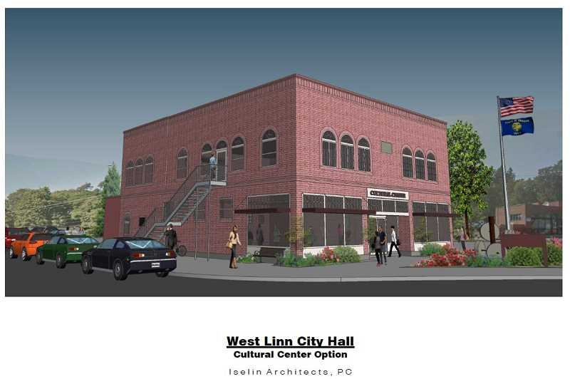 SUBMITTED PHOTO - A mock-up drawing shows how CCTCA envisions the old city hall building might look after renovations.