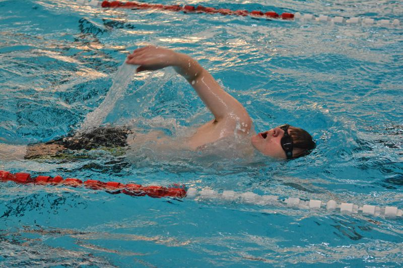 SPOTLIGHT PHOTO: JAKE MCNEAL - Chris Cramer swims the freestyle.
