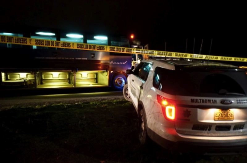 KOIN 6 NEWS PHOTO - Multnomah County Sheriff's deputies arrested Robert Vasquez for the stabbings on a Greyhound bus on Wednesday, Nov. 28 on Interstate 84 near Troutdale.