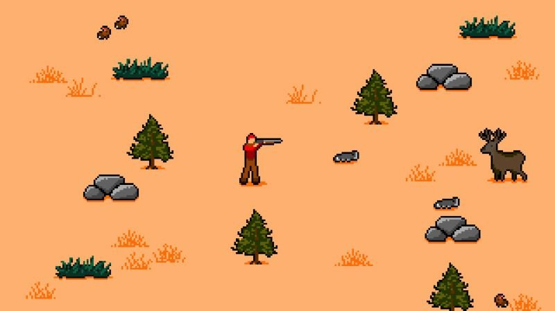 COURTESY: HINGE/TRAVEL OREGON - Scenes from Travel Oregon: The Game, where players can bag an elk on their travels.