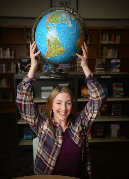 OUTLOOK PHOTO: JOSH KULLA -  Johnston, who enjoys her class on global perspectives, has a head start on college since she has taken multiple college-credit classes at CAL and Gresham High School.