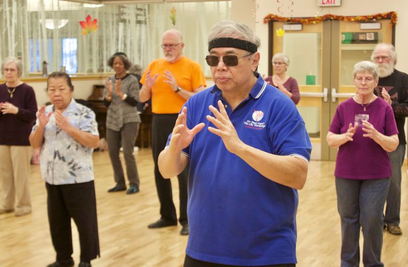 OUTLOOK PHOTO: CHRISTOPHER KEIZUR - Gresham's Senior Center offers a variety of classes and activities, including the most popular Tai Chi class.