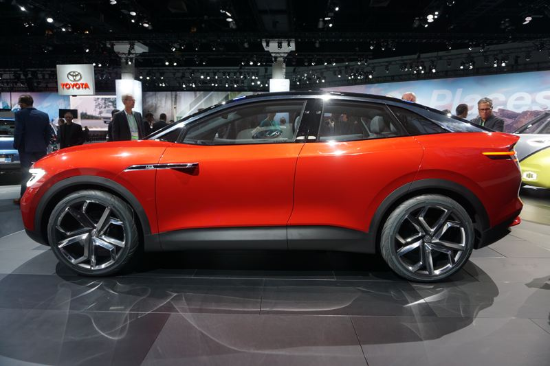 PORTLAND TRIBUNE: JEFF ZURSCHMEIDE - Volkswagen presented its I.D. Krozz compact crossover SUV concept prototype, which should go on sale in 2020.