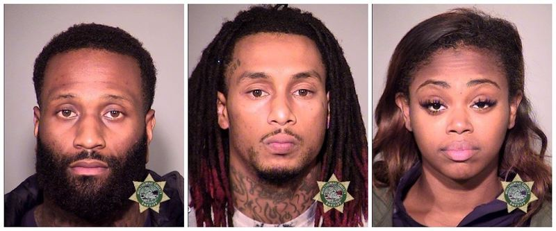 MULTNOMAH COUNTY SHERIFF'S OFFICE - Jody Wafer, Trent Knight, and Brittany Kizzee.