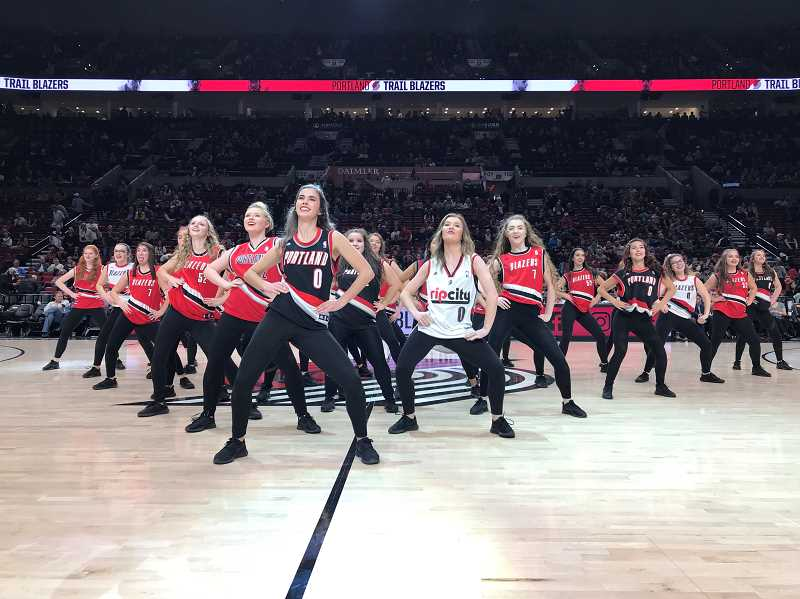 SUBMITTED PHOTO: JENNIFER CHAFFEE - The dance team performed at a Portland Trailblazer's game as the halftime show on Nov. 13. The team has had a streak of success going back a half decade, and look to keep it going in the upcoming season.