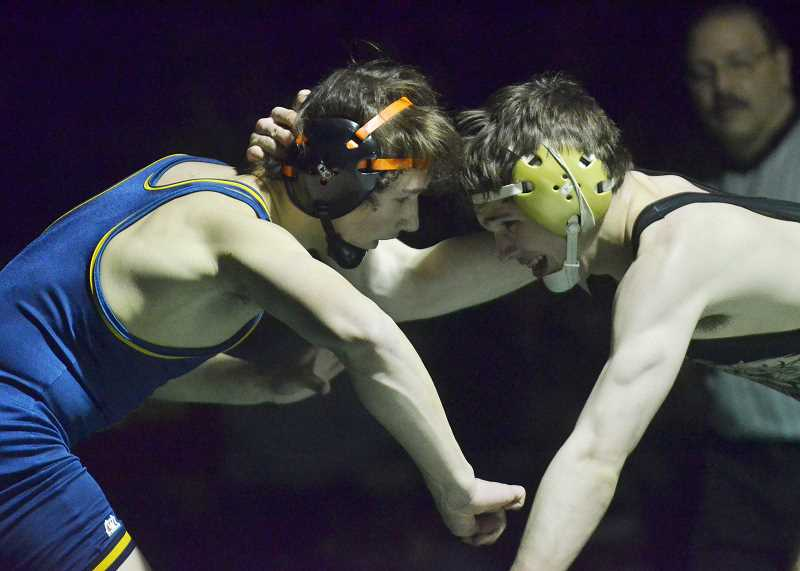HERALD PHOTO: COREY BUCHANAN - The Cougar's Jake Lowry returns to the team after taking first place at districts last year to lead a hungry Canby team back to the state championship tournament.
