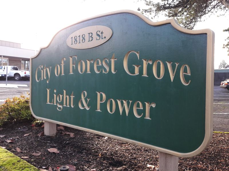 STAFF PHOTO: MARK MILLER - The Forest Grove City Council has scheduled a public hearing on Jan. 8 to discuss a proposed increase in the rate Forest Grove Light & Power charges customers for electricity.
