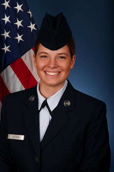 PHOTO COURTESY: U.S. AIR FORCE - Makayla V. Katona, a 2014 graduate of Oregon City High School, earned distinction as an honor graduate of the Air Forces intensive basic-training program.