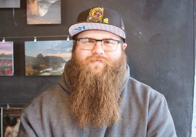 OUTLOOK PHOTO: CHRISTOPHER KEIZUR - Gresham's Brooklyn Sprauer, 24, was named the Best Beard in the East Multnomah County.