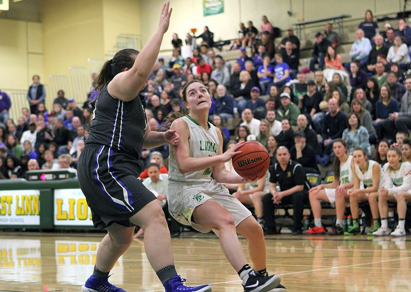 TIDINGS PHOTO: MILES VANCE - West Linn senior guard Kennedi Byram is one of three returning all-league players for the Lions this year as the team chases a Three Rivers League title and state tournament berth.