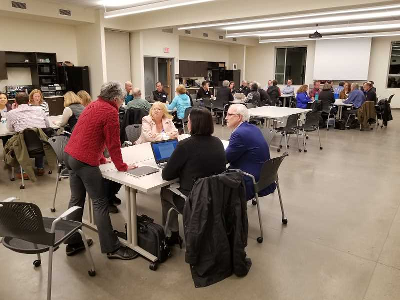 REVIEW PHOTO: ANTHONY MACUK - Last week's City Council open house was held at the new Public Works headquarters, which features a large meeting space that can be used for other city functions.