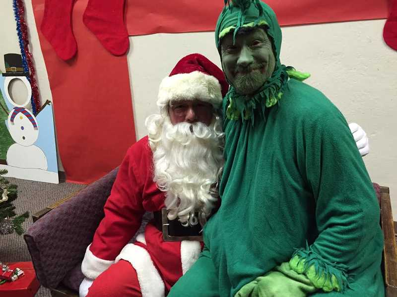 SUBMITTED PHOTO - Santa and the Grinch will be at the library.
