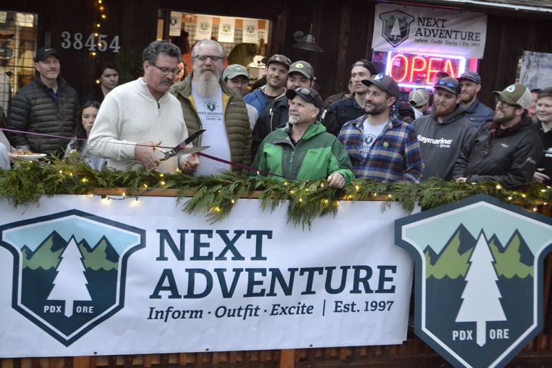 POST PHOTO: BRITTANY ALLEN - Mayor Bill King came out to the grand opening of the new ski shop.