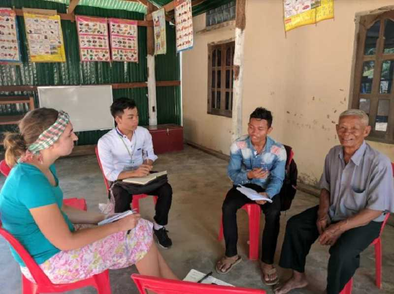 COURTESY: LACEY JACOBY - Lacey Jacoby, far left, traveled to Cambodia in September with a professor and her peers to study the microloan sector.