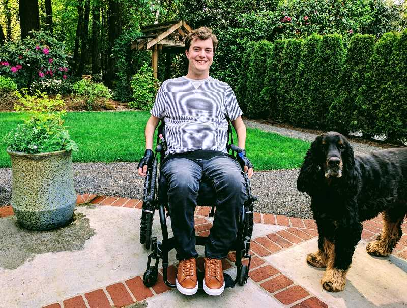 PHOTO COURTESY OF THE AGAN FAMILY - Lake Oswego High graduate Alex Agan has improved steadily since a debilitating accident during a vacation in Nuevo Vallarta in 2015. He is planning to move into his own apartment with a caretaker this month.