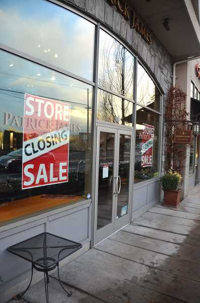 REVIEW PHOTO: VERN UYETAKE - The Patrick James men's clothing store recently announced that it would be closing its shop  in Lake View Village.