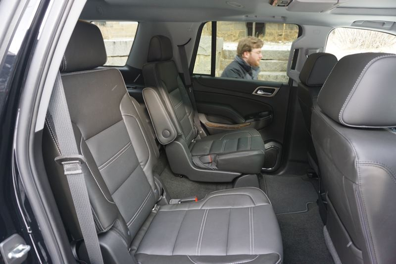 PORTLAND TRIBUNE: JEFF ZURSCHMEIDE - Full-size SUVs are all about interior room, and the GMC Yukon Denali has plenty of it, including a third row of seats that are easy to reach.