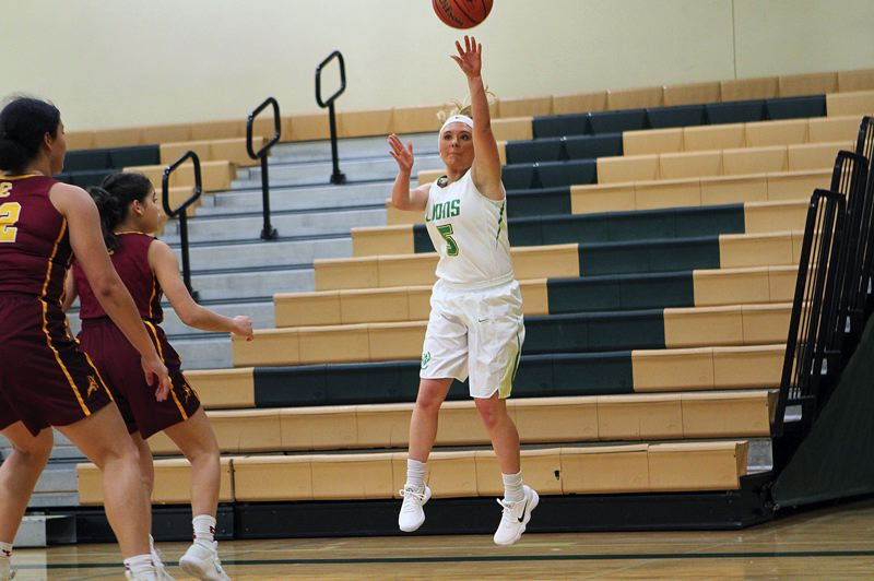 TIDINGS PHOTO: MILES VANCE - West Linn senior Brooke Landis and the Lions will try to go to 3-0 on Friday night when they host Westview at 6:45 p.m.