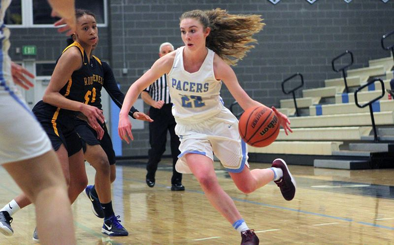 REVIEW PHOTO: MILES VANCE - Lakeridge guard Sierra Zevenbergern hit a three-pointer that gave her team the biggest lead in its 71-51 non-league home win over Roosevelt on Friday.