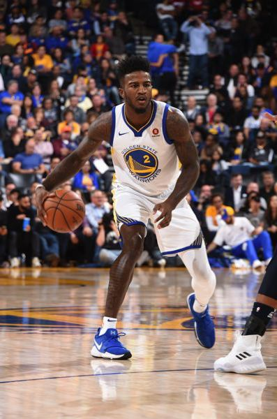 COURTESY: ANDREW D. BERNSTEIN/NBAE VIA GETTY IMAGES - Former Oregon Ducks standout Jordan Bell is playing significant minutes off the bench as a rookie with the Golden State Warriors.