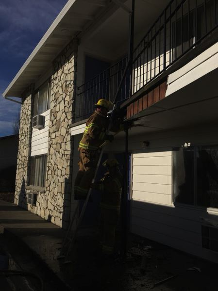 PHOTO COURTESY OF COLUMBIA RIVER FIRE AND RESCUE - Columbia River Fire and Rescue crews responded to a small commerical fire at Motel 6 on Friday afternoon. After responding to the call, firefighters discovered the building's alarm system was not functioning properly.