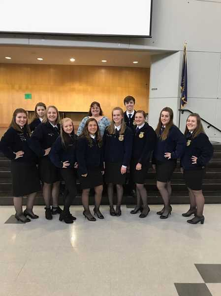 SUBMITTED PHOTO - Pictured are Canby's students who attended the state veterinary contest on Nov. 18.