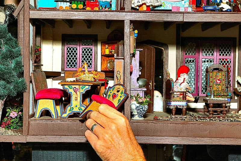 DAVID F. ASHTON - Everything is miniature, in these tiny houses currently on display at the Portland Puppet Museum in Sellwood.