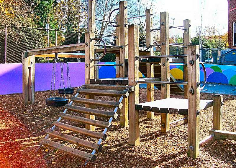 RITA A. LEONARD - Grout Schools March 9 auction will help fund the rejuvenation of the elementary schools wooden playground structure.