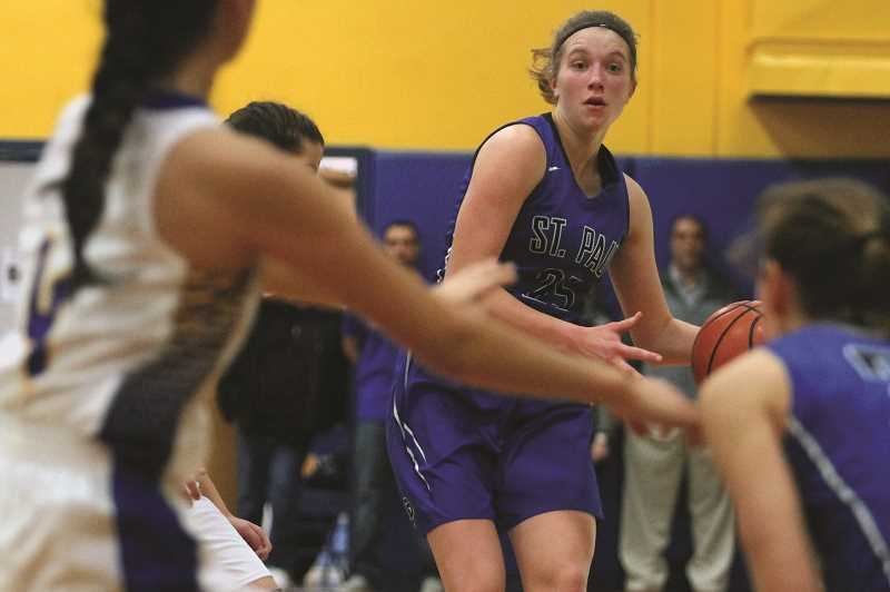 PHIL HAWKINS - The move of St. Paul sophomore Erin Counts from post to guard this season has opened up the offense, creating additional opportunities for teammates Isabelle Wyss and Emma Connor while adding an extra dimension via Counts' court vision.